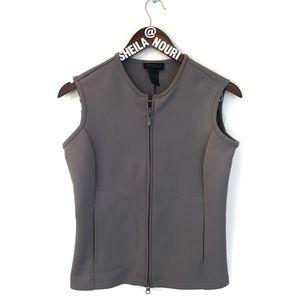 Express World Brand Green Sleeveless Vest w/ Zip